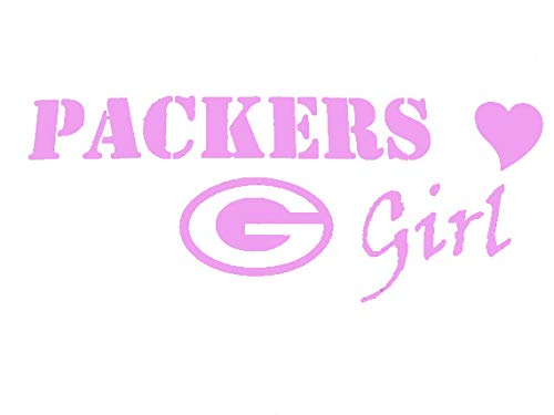 Creative Concepts Ideas Packers Girl Green Bay Football CCI Decal Vinyl Sticker|Cars Trucks Vans Walls Laptop|Pink|7.5 x 3.0 in|CCI2215