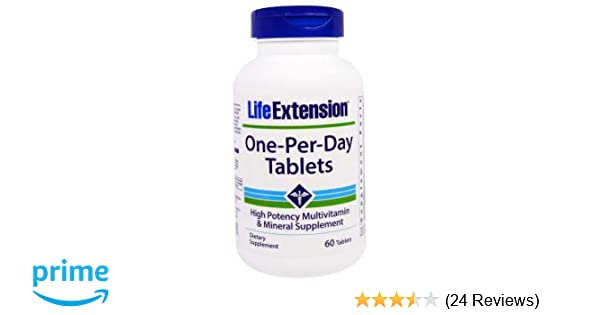 Life Extension One Per Day Tablets, 60 Count