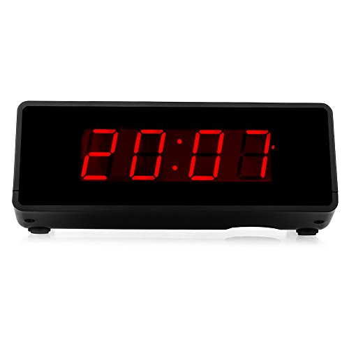 Kwanwa Cordless Digital LED Alarm Clock,2 Batteries Keep the Big 0.9   Red LED Time Display Up to 2 Years Without Any External Power ,Battery Powered Only