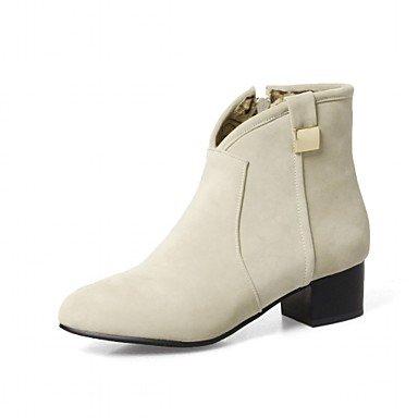 Damen Herbst Blockabsatz Schuhe Spitze Reißverschluss Für Stiefel Stiefeletten Zehe Winter Booties Stiefel Normal Modische Kunstleder qfEwrq0