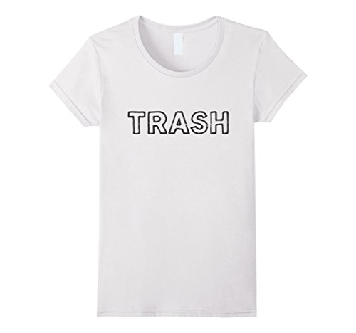Womens White Trash - Easy Halloween Costume - Funny Halloween Shirt Large White - White Trash Costume Ideas For Women