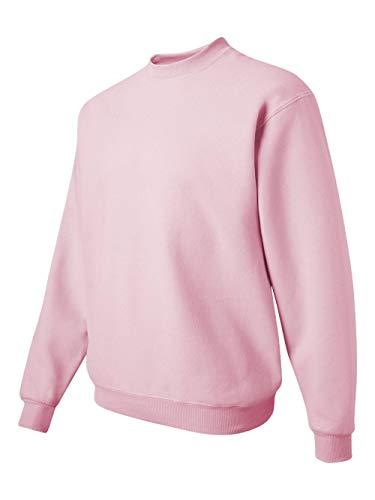 Sweatshirt Crewneck Lightweight (Jerzees Men's NuBlend Crew Neck Sweatshirt, Classic Pink, Small)