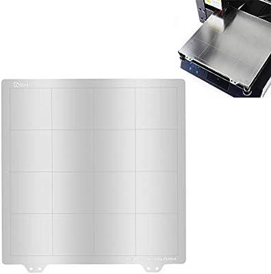 UKCOCO Plataforma de impresora 3D, placa de acero de superficie de ...