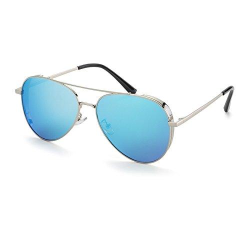 de Gafas TL de piloto Blue Elegante Sol Gafas de Sol Sunglasses Sol Sol Mujer Mujer Gafas Azul polarizadas de polarizadas Gafas w4qSFYqx5