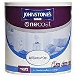 Johnstones 304133 2.5 Litre One Coat Matt Emulsion Paint - Brilliant White by Johnstones