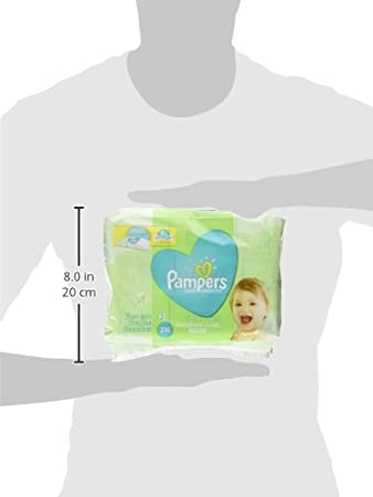 Pampers Baby Wipes, Natural Clean UNSCENTED, 3X Refill Packs, 216 Count 37000282655