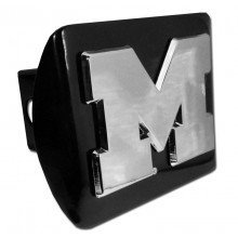 Michigan Wolverines Block M Black NCAA Metal Trailer Hitch Cover Fits 2 Inch Auto Car Truck Receiver