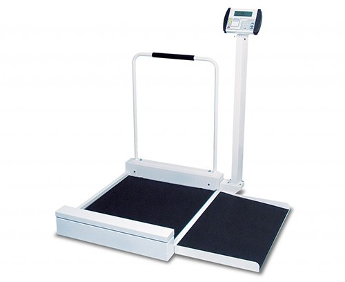 [Detecto Digital Stationary Wheelchair Scale, 400 x 0.2 Pound Capacity -- 1 each.] (Detecto Digital Chair Scale)