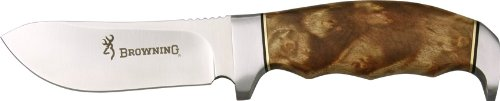 Browning Fixed Blade with Burlwood Handle, 8 1/4 in.