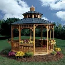 Práctico Hogar San Marino 10 ft. Cenador circular: Amazon.es: Jardín