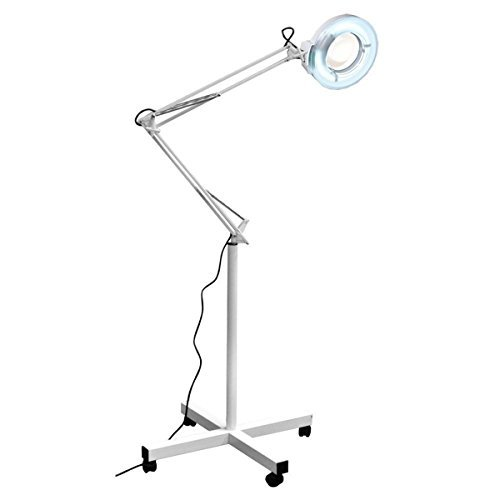 SY Rolling Adjustable MAGNIFYING LAMP BEAUTY Standing Mag Light SALON FACIAL Wheels