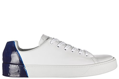 Premiata Mens Shoes Leather Trainers Sneakers Polo Blu F0yG3OaM8