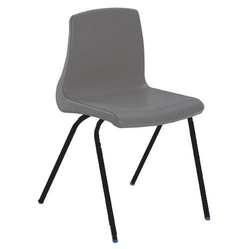 Metalliform np4-bk-charcoal standard Classroom sedia con sedile 380mm, antracite