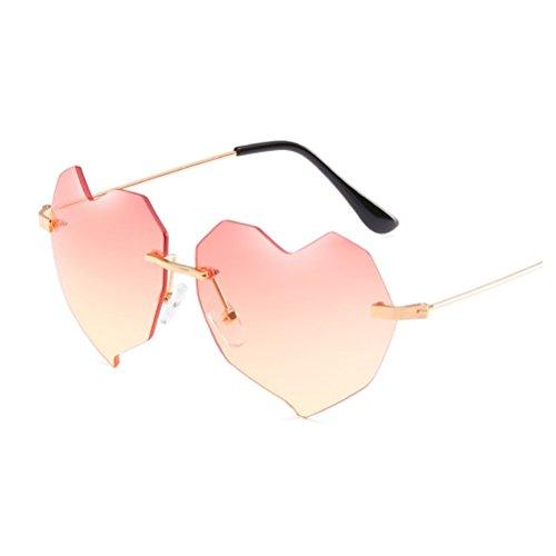 Color para Gafas Hombre Gafas de Love Jacket Sol Retro Mujer Sol Mujer y Rosado sin para Color YANJING Color Verde ZYXCC de v4Ownxgn