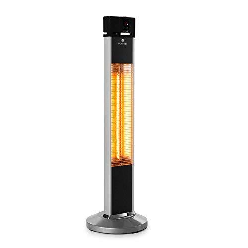 Patio Infrared Heaters (Blumfeldt Heat Guru IR Radiant Heater • 1500 W • 24-Hours Timer • Carbon Heating Element • 3 Heating Levels • Remote Control • IP34 • Black)