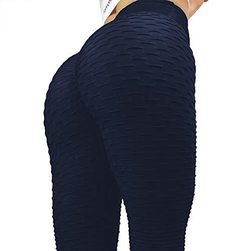 FITTOO Women Sexy High Waist Butt Scrunch Push Up Leggings Stretch Gym Workout Yoga Pants