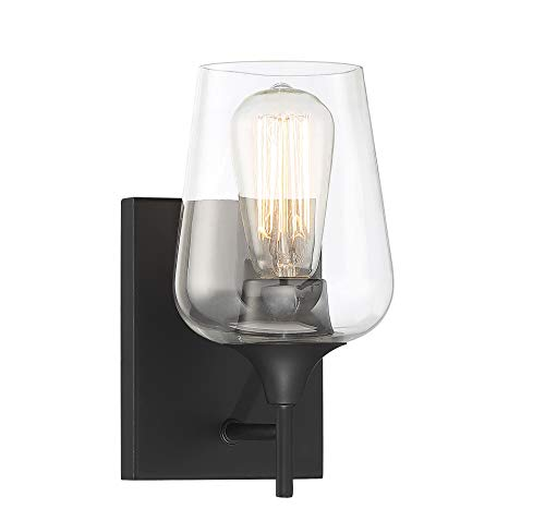 Savoy House Octave 1-Light Wall Sconce in Black
