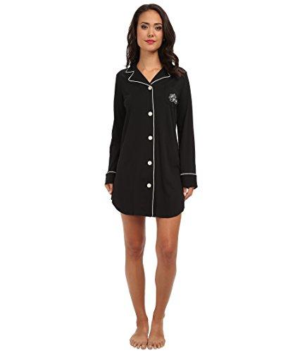 - LAUREN RALPH LAUREN Women's Hammond Knits Sleepshirt Black Large