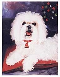 (Merry Maltese Holiday Note Cards)