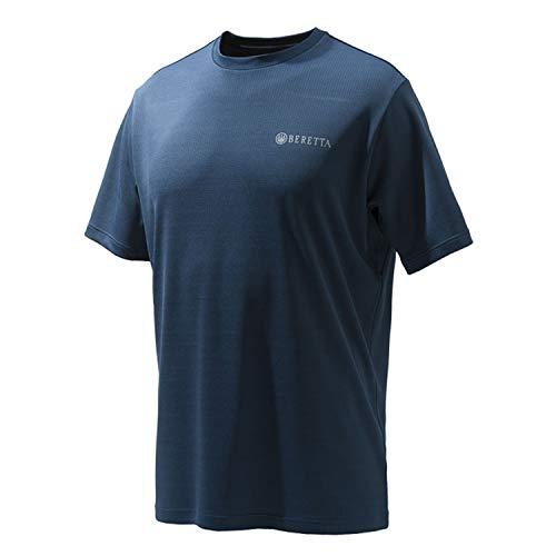 - Beretta Mens US TECH T Shirt; Total Eclipse Blue; Medium
