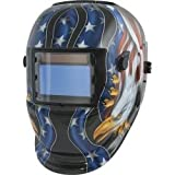 TIT41265 Titan Solar Powered Auto Darkening Welding Helmet with American Eagle Graphics