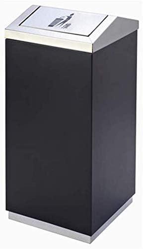 シンプルなファッションゴミ箱、フリップショッピングモール屋外プロパティ長方形ゴミ箱ゴミ箱(色:黒)