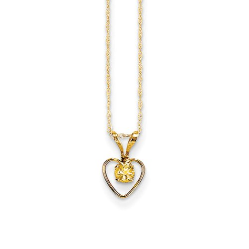 3 Mm Citrine Heart - 9