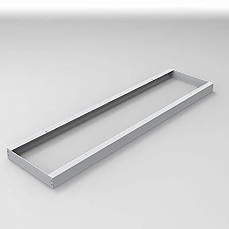 Montaje Marco 120 x 30 cm para LED Panel de Techo y Pared Marco embellecedor para montaje aluminio plata de Longlife LED GmbH by HK: Amazon.es: Iluminación