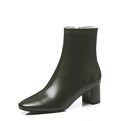 à Talon Bottines Green carré Dark USdqnxR54