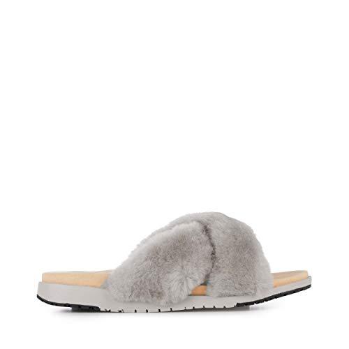 EMU Australia Mareeba Womens Slippers Sheepskin Slipper Size 10 Dove Grey