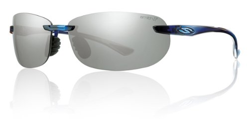 Smith Optics Turnkey Premium Lifestyle Polarized Active Sunglasses - Midnight Blue/Chromapop Platinum / Size - Active Optics
