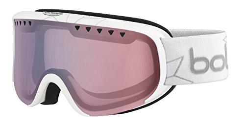 Bolle Scarlett Shiny Modulator 2.0 Light Control NXT Googles, White Edelweiss, One - Bolle Goggles Scarlett
