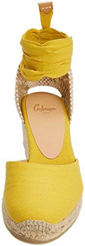 Light Femme Carina6001 1001 Espadrilles Yellow Castañer Jaune 1pqfT