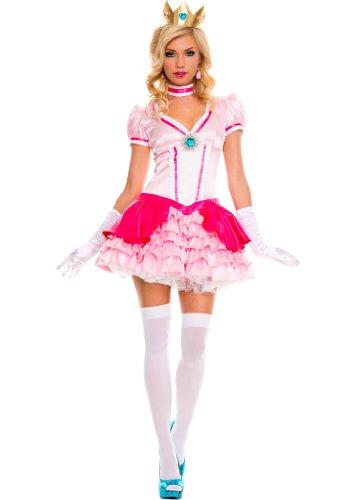Adult Pink Princess Dress (Peachy Princess Costume - Medium/Large - Dress Size 8-14)