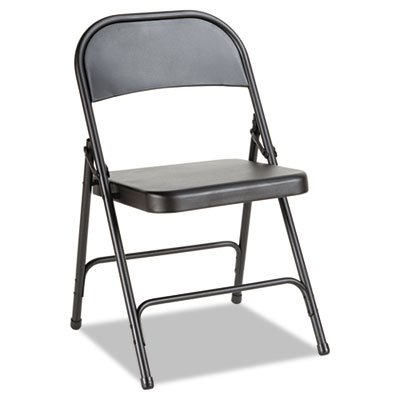 - Alera ALEFC94B Steel Folding Chair with Two-Brace Support, Graphite (Case of 4)