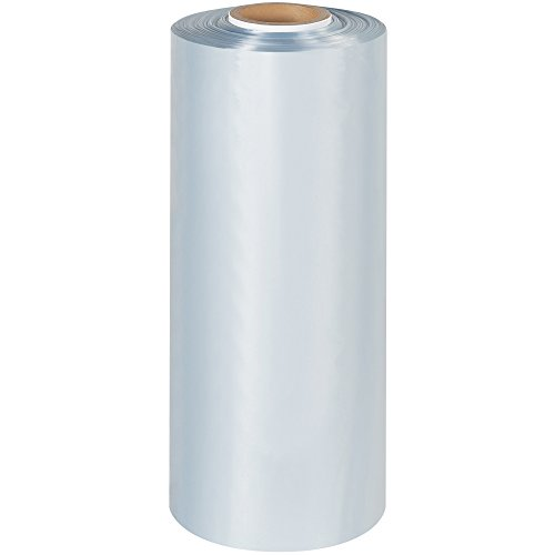 Tape Logic TLSHT4100 Shrink Tubing, 4'' x 100 Gauge x 1500', Clear by Tape Logic