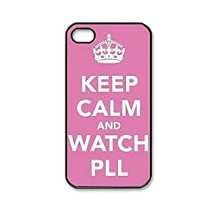 YXF Keep Calm and Watch PLL Pattern Plastic Hard Case for iPhone 4/4S