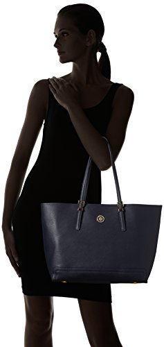 Tommy Hilfiger Honey EW Tote Solid, Borse Tote Donna Blu (Tommy Navy)