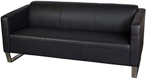 Brilliant Mahmayi Casual Three Seater Leather Sofa Black Buy Online Creativecarmelina Interior Chair Design Creativecarmelinacom