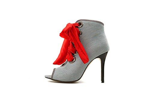 AIKAKA Chaussures pour Femmes Printemps Été Poisson Bouche Haute Aide Grande Taille Light Blue ZpUZ3