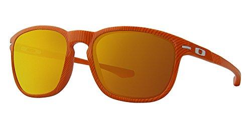 Oakley Men's Enduro Atomic Orange Fingerprint/Fire Iridium Sunglasses  One Size by Oakley