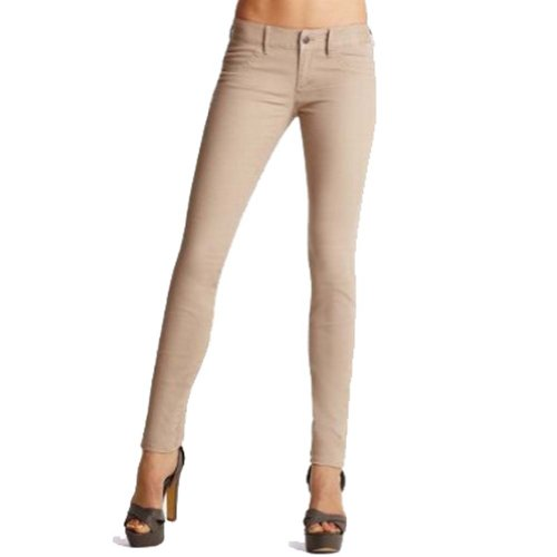 Misses Pants Casual (Misses French Terry Skinny Pant Jeggings Cotton Stretch Color Legging Basic Pants (Large, Khaki))