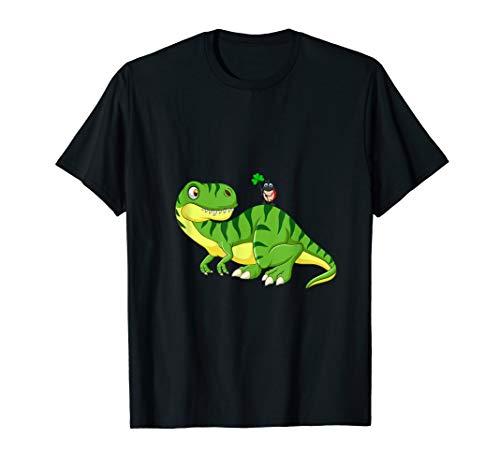 T-Rex Ladybird T-Shirt Dinosaur Clover Leaf St. Pat