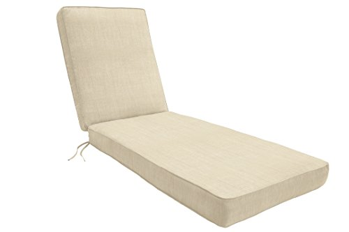 Eddie Bauer Home Chaise Double Piped 23 W x 75 L x 2.5 H, Canvas Natural