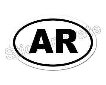 Amazon Com Oval Euro Car Magnet Ar Arkansas Razorbacks Magnetic