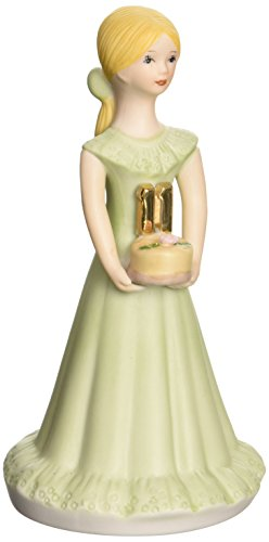 "Enesco Growing Up Girls ""Blonde Age 11"" Porcelain Figurine, 5.5"""