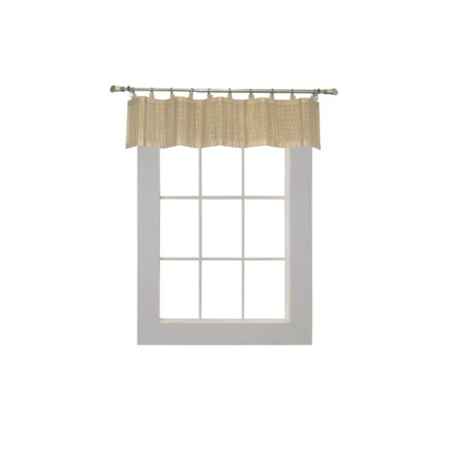 Bamboo Ring Top Curtain BRP05 Window Valance, 48 by 12-Inch, Driftwood