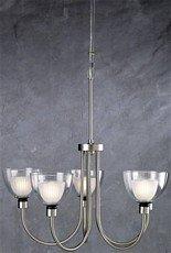 Lite Source LS-10755SS/BLU Brella 5-Lite Ceiling Lamp, Satin (Lite Source Satin Ceiling Lamp)