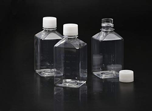 SPL 1000 ml Square Media Bottle (Polyethylene) for Media, serum Bottling or Casual (12 x CASE) (STERILE) DNase/RNase Free, Human DNA Free,Non pyrogenic, Non cytotoxic (Non Bottles Sterile)