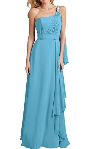 La Schmaler Abendkleider Partykleider Etuikleider mia Chiffon Schnitt Lilac Brautjungfernkleider Langes Braut Blau gwqZFrg
